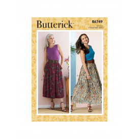patron jupe Butterick B6749