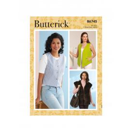 patron gilet Butterick B6745