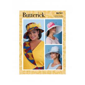 patron chapeaux ornés de fleurs Butterick B6741