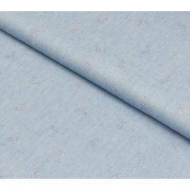 tissu jean fluide fleurs glitter largeur 145cm x 50cm