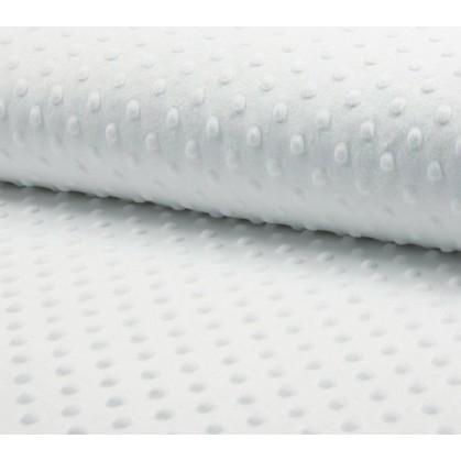 tissu velours minky pois blanc largeur 140cm x 50cm