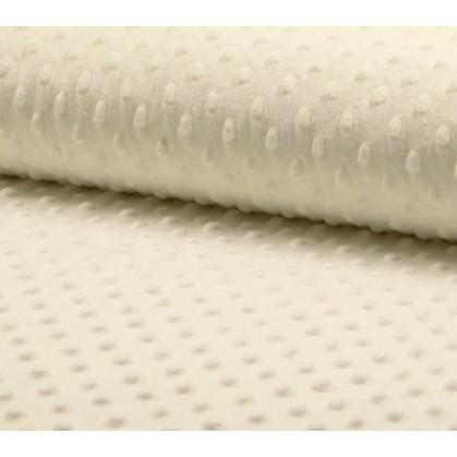 tissu velours minky pois gris clair largeur 140cm x 50cm