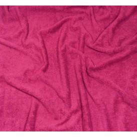 tissu éponge fuchsia largeur 160cm x 50cm
