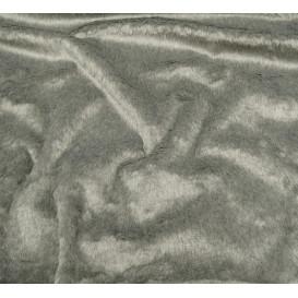 tissu imitation fourrure gris largeur 153cm x 50cm