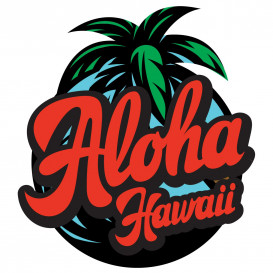 transfert vêtement aloha hawaii thermocollant