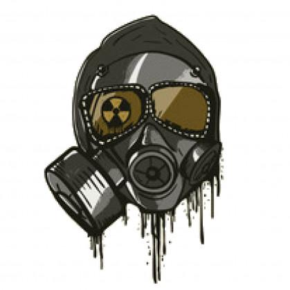 transfert vêtement masque toxique thermocollant