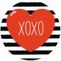 transfert vêtement coeur xoxo thermocollant