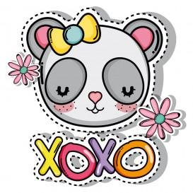 transfert vêtement panda xoxo thermocollant