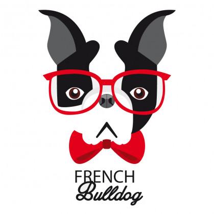 transfert vêtement french bulldog thermocollant