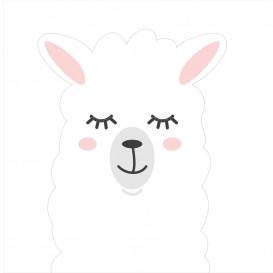 transfert vêtement tête de lama thermocollant
