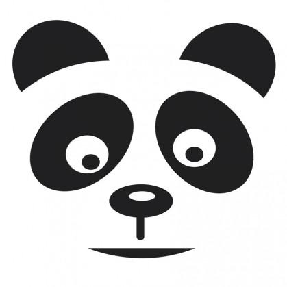 transfert vêtement tête de panda thermocollant