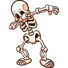 transfert vêtement squelette dab thermocollant