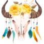 transfert vêtement crane vache attrape-rêves thermocollant
