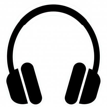 transfert vêtement casque audio thermocollant