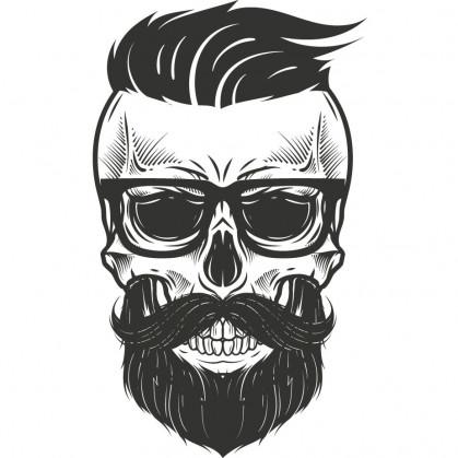transfert vêtement tête de mort hipster thermocollant