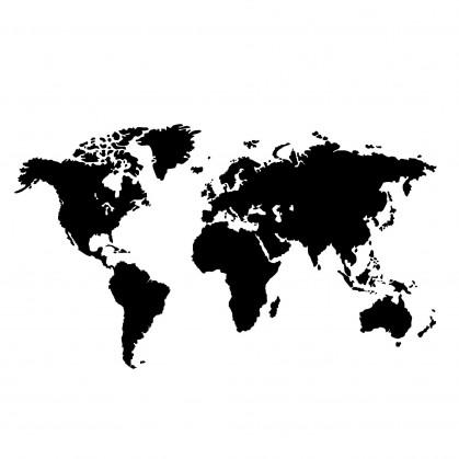 transfert vêtement carte monde thermocollant