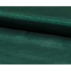 tissu organza vert bouteille largeur 150cm x 50cm