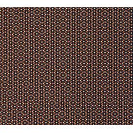 tissu viscose noir traits marron largeur 140cm x 50cm