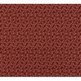 tissu viscose bordeaux fleur rose largeur 140cm x 50cm