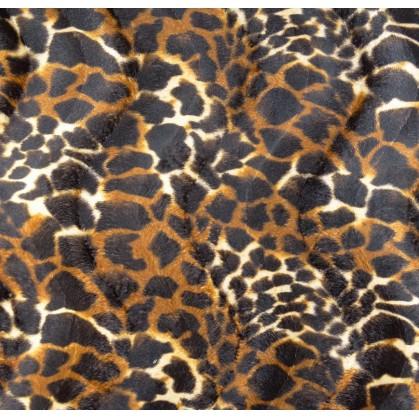 tissu peau de bête girafe marron largeur 150cm x 50cm