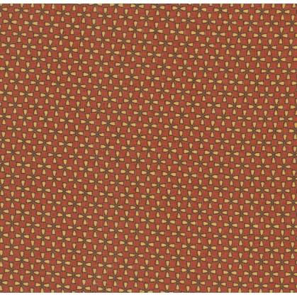 tissu voile polyester étoiles rouge largeur 150cm x 50cm