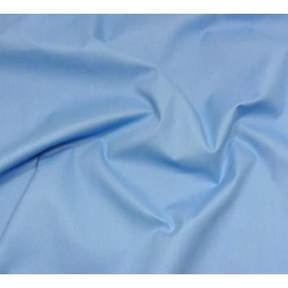 coupon coton à drap cotoval uni bleu nattier