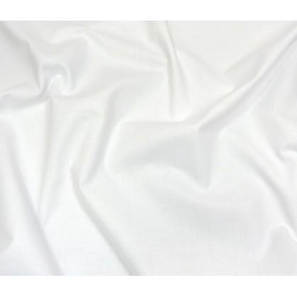 coupon coton à drap cotoval uni blanc