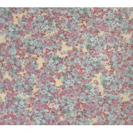 tissu maille elasthanne fleurs largeur 150cm x 50cm