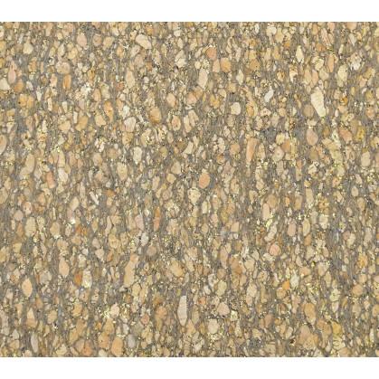 tissu liège naturel foncé or largeur 140cm x 50cm