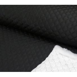 tissu matelassée noir largeur 145cm x 50cm