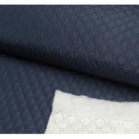 tissu matelassé marine largeur 145cm x 50cm