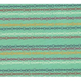 tissu patchwork makower chaine vert largeur 110cm x 25cm