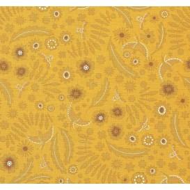 tissu patchwork makower alison glass jaune largeur 110cm x 25cm