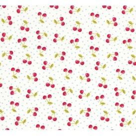 tissu patchwork makower cerise largeur 110cm x 25cm