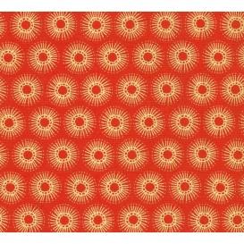 tissu patchwork makower rond orange largeur 110cm x 25cm