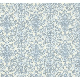 tissu patchwork makower damask bleu largeur 110cm x 25cm