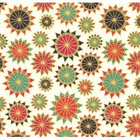 tissu patchwork makower arabesque écru largeur 110cm x 25cm