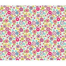 tissu patchwork makower floral largeur 110cm x 25cm
