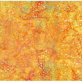 tissu patchwork makower batik jaune pois largeur 110cm x 25cm
