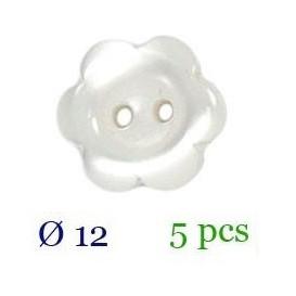 tube 5 boutons fleur 2 trous 12mm