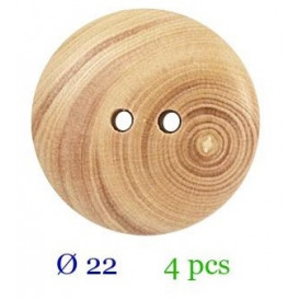 tube 4 boutons bois 2 trous 22mm