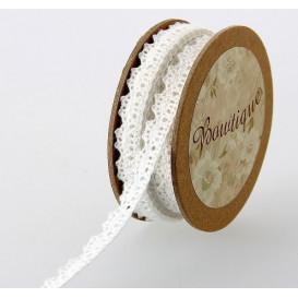 bobine 5m dentelle blanche 10mm