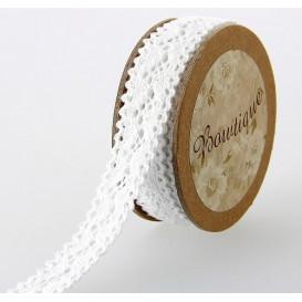 bobine 5m dentelle blanche 18mm
