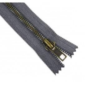 fermeture à glissière métal jeans