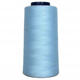 cône de fil à surfiler et à coudre bleu clair
