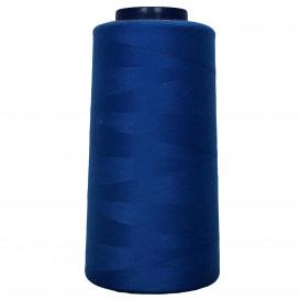 cône de fil à surfiler et à coudre bleu roi