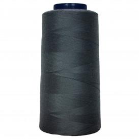 cône de fil à surfiler et à coudre gris foncé