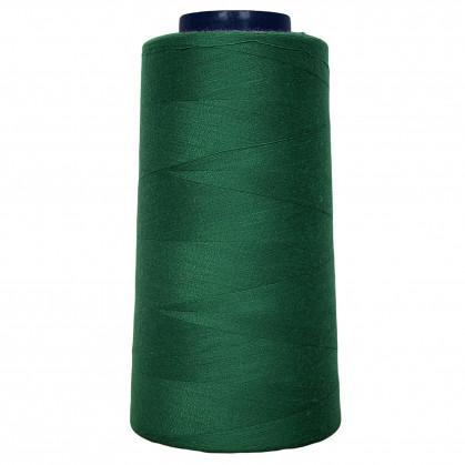 cône de fil à surfiler et à coudre vert herbe