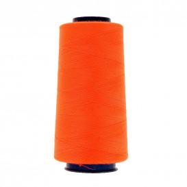 cône de fil à surfiler et à coudre orange fluo