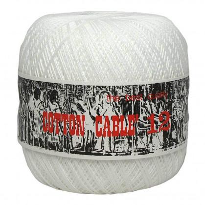 fil à crocheter coton cablé n°12